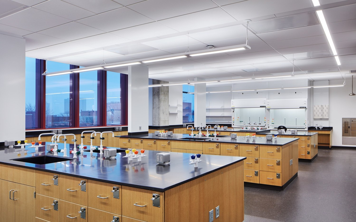The 135000-square-foot academic building integrates classroom laboratory and research facilities for eight departments (biology business chemistry ... & Reducing Structural Vibrations in Academic Lab Buildings - HGA