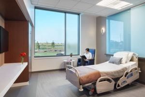 CentraCare Health - Long Prairie interior patient room 2