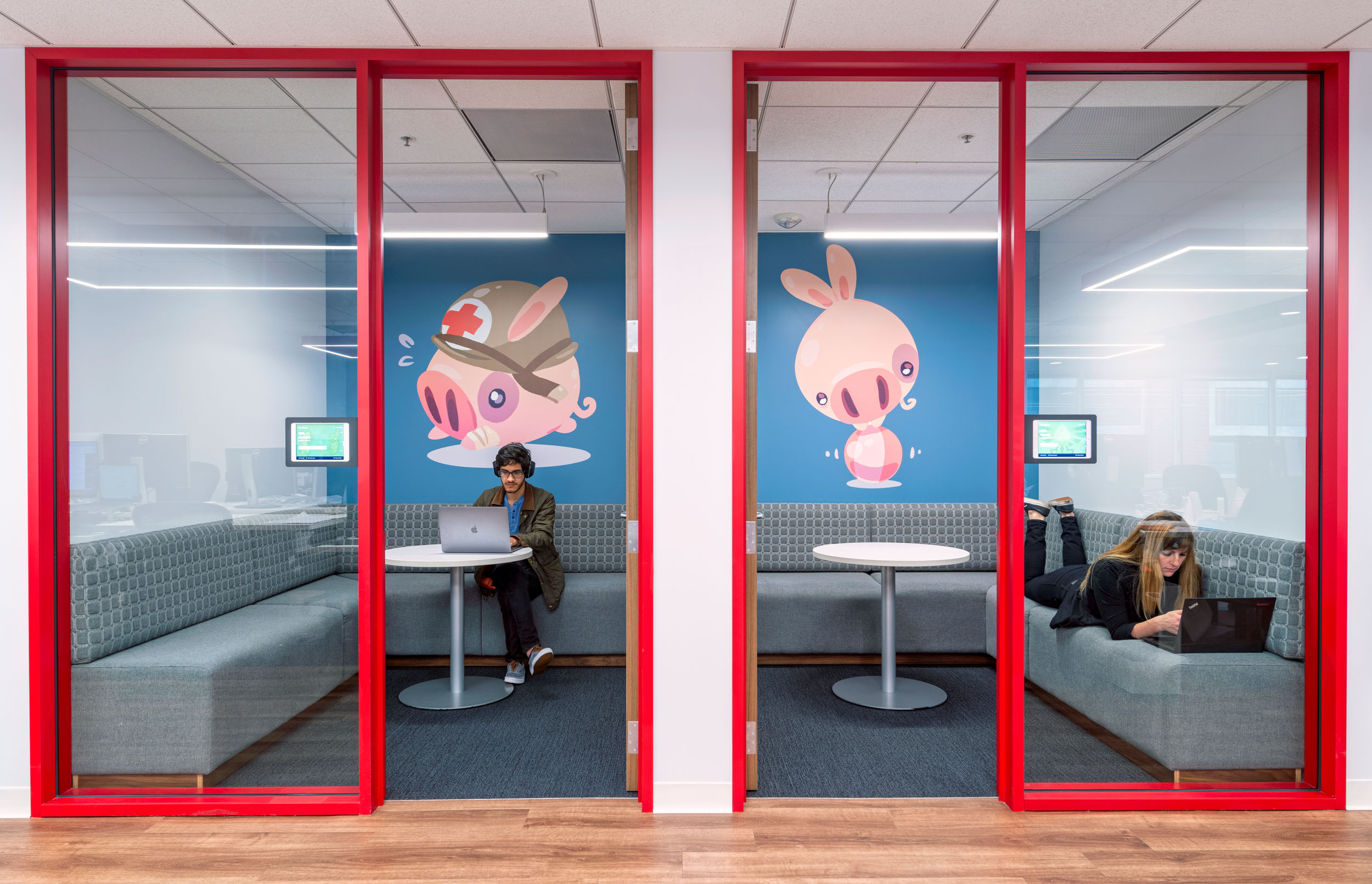 Humble Bundle office interior conference rooms