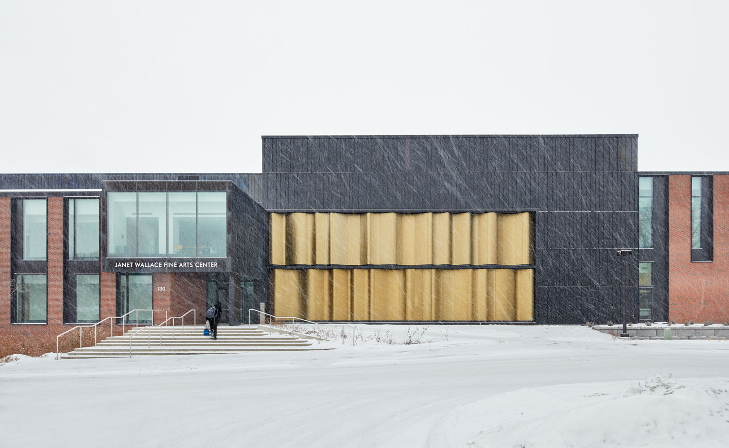 Macalester College, Janet Wallace Fine Arts Center Phase III - Theater and Dance exterior winter