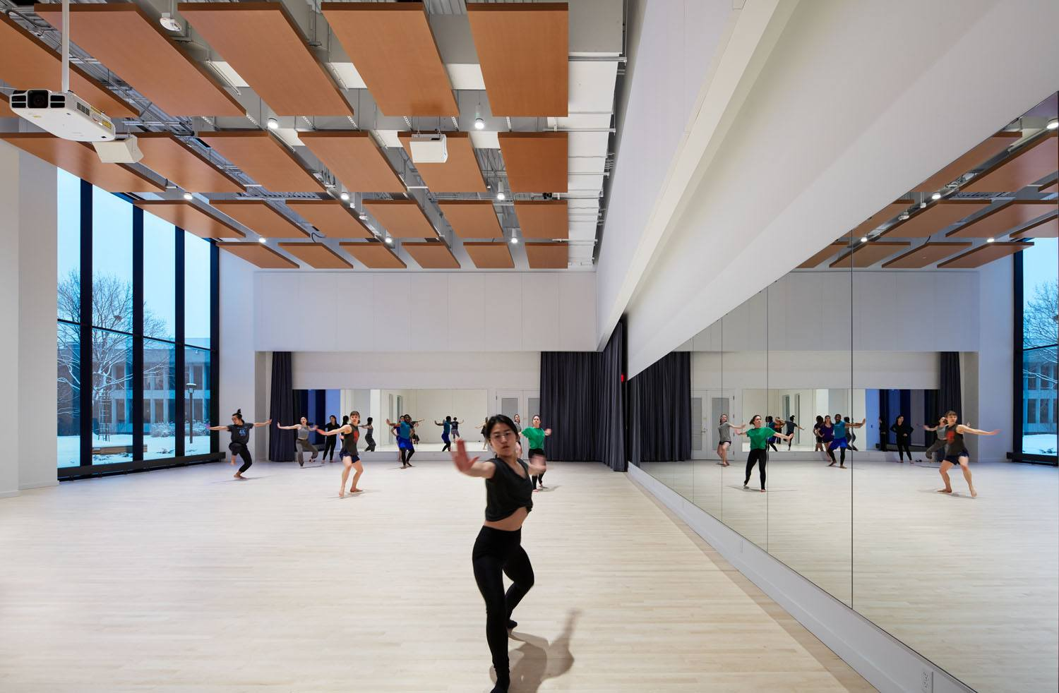 Macalester College, Janet Wallace Fine Arts Center interior dance studio