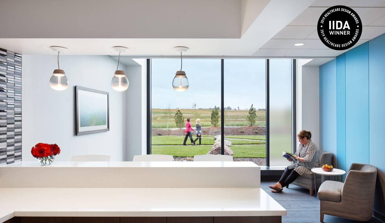 CentraCare Health - Long Prairie interior waiting area IIDA