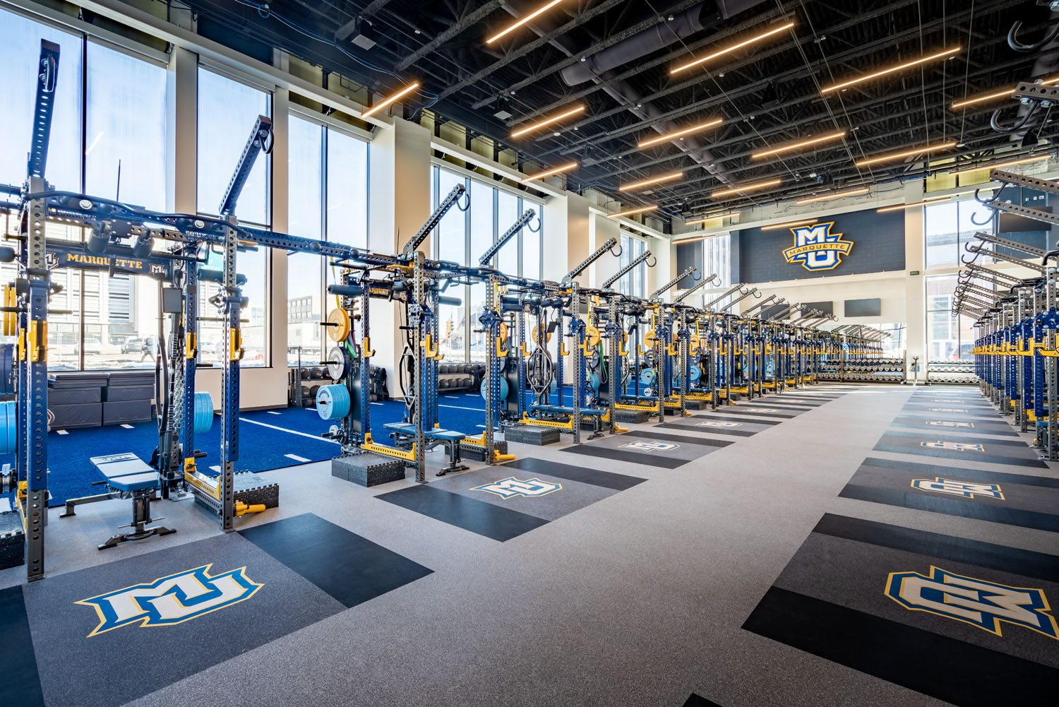 Marquette University - Athletic and Human Performance Research Center interior fitness area