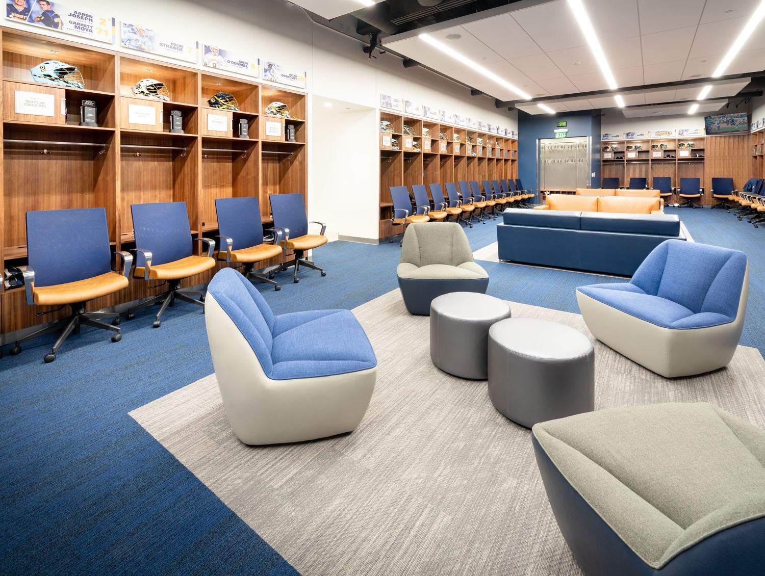 Marquette University - Athletic and Human Performance Research Center interior locker room 1