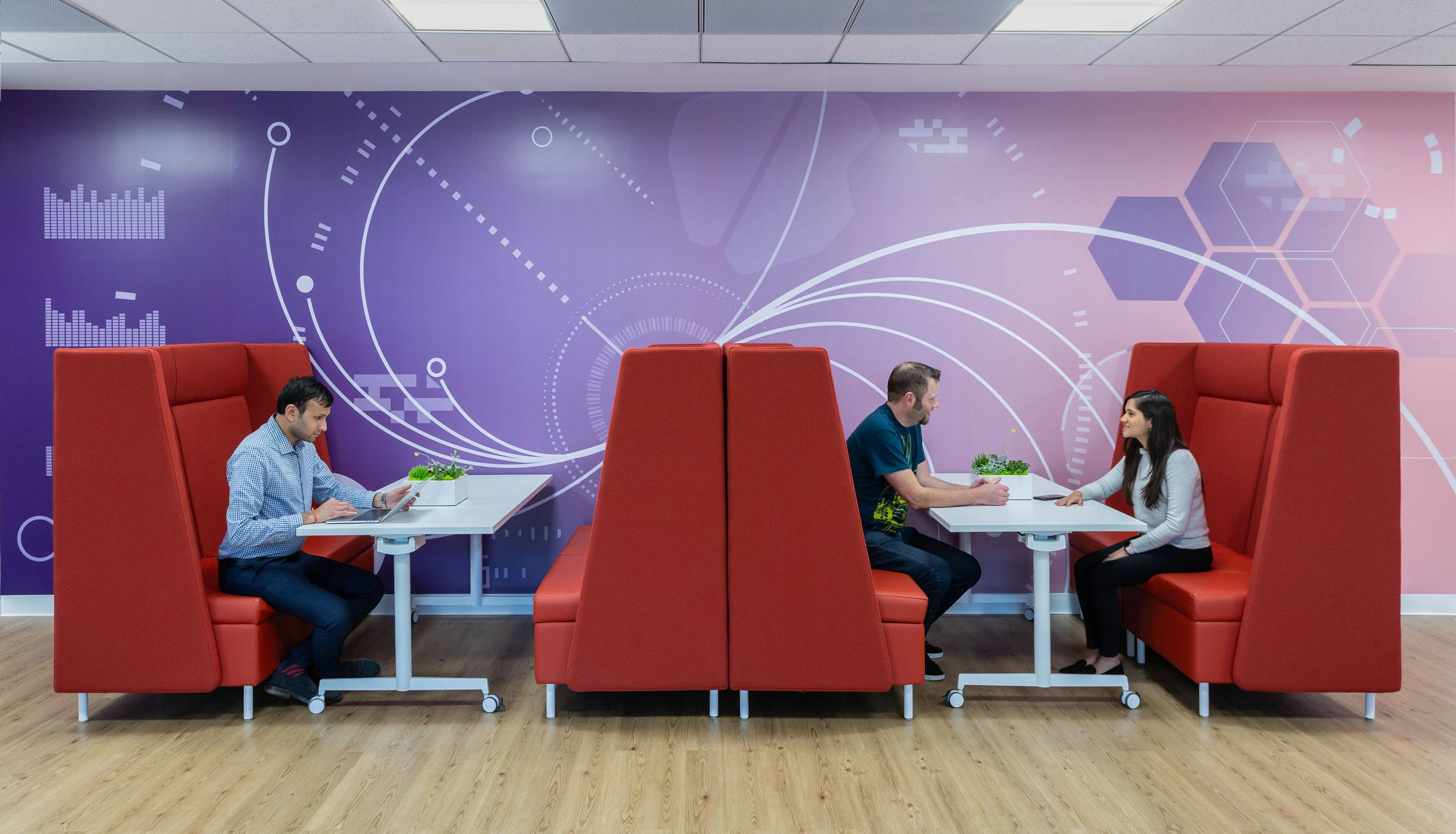 Sitecore offices interior banquette seating