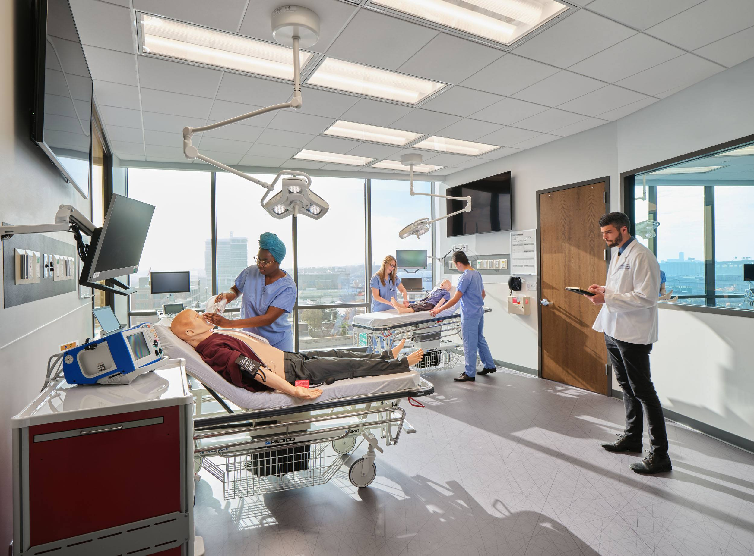 Marquette University - Physician Assistant Studies Building interior simulation center