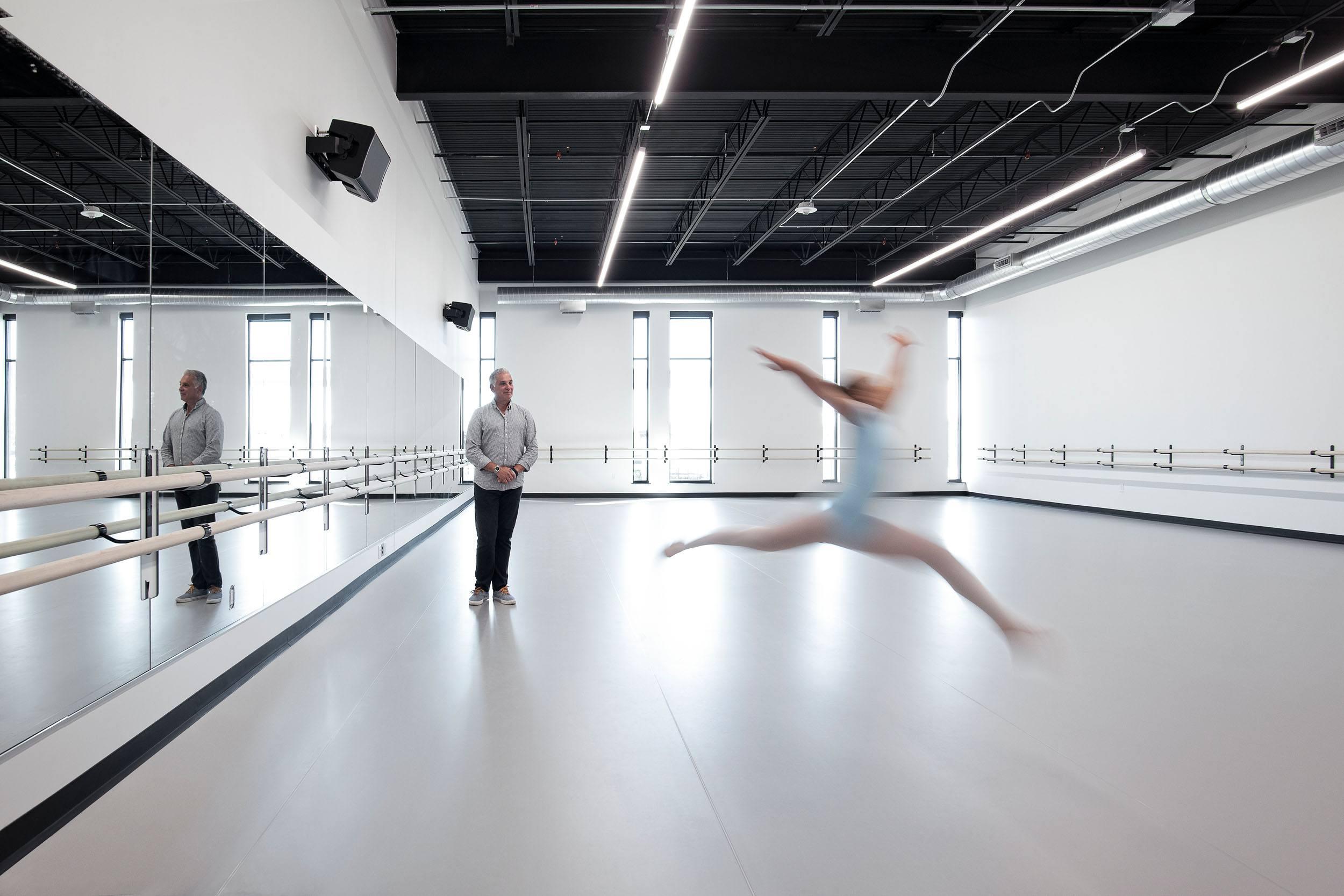 Milwaukee Ballet interior dance rehearsal space