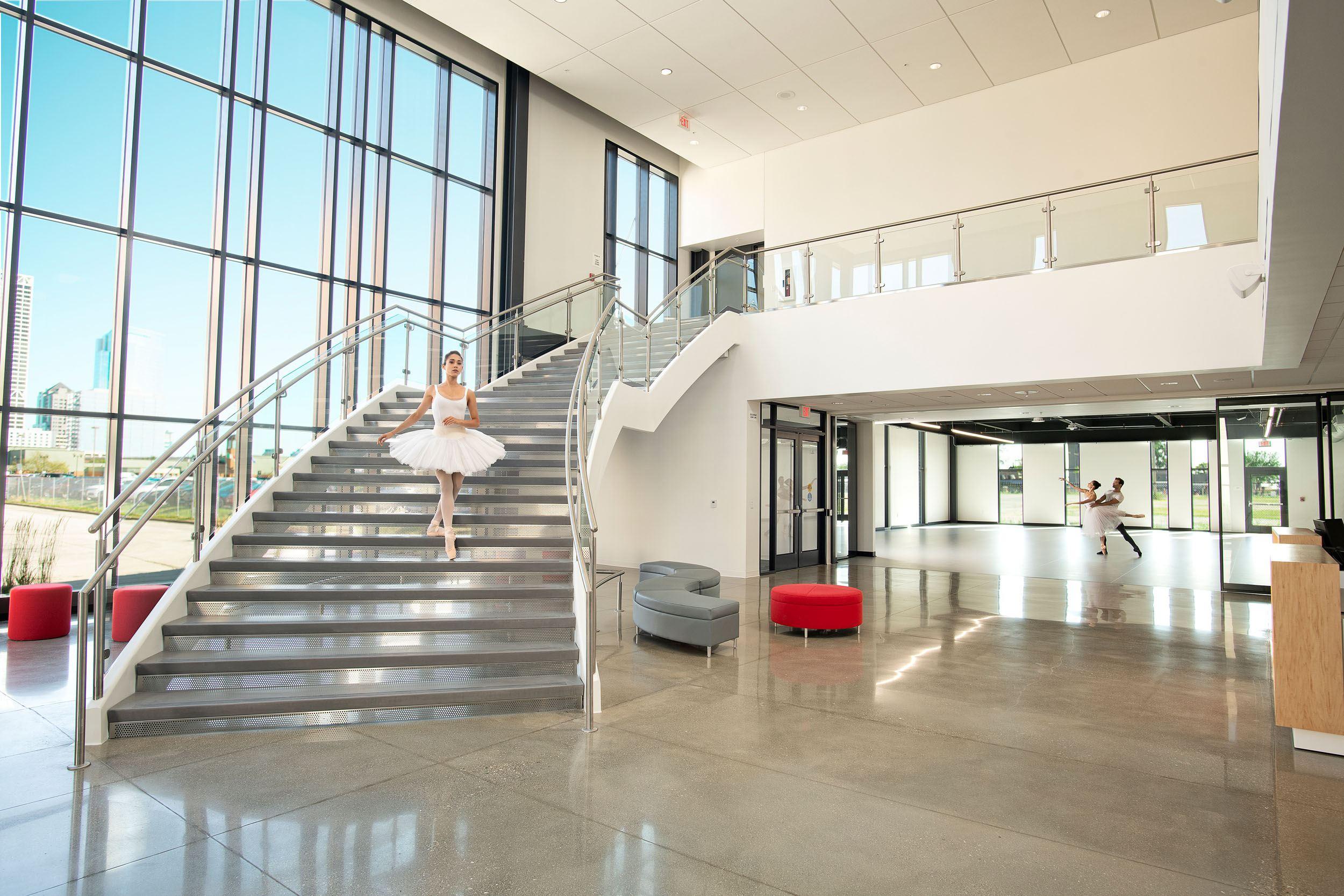 Milwaukee Ballet interior staircase