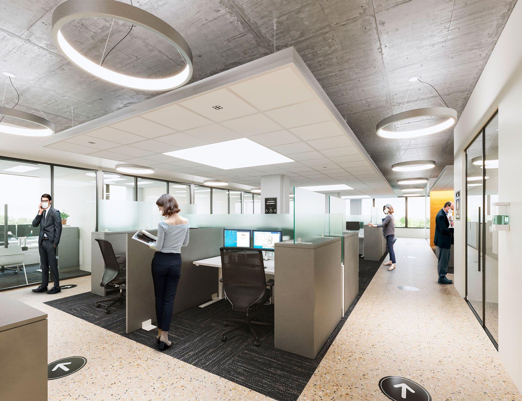 AFL-CIO HIT cubicles rendering