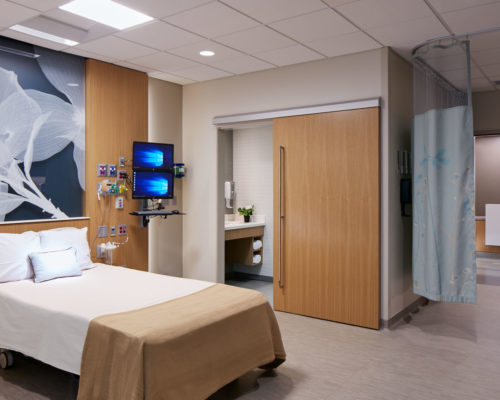 CentraCare Health System Melrose interior patient room 2
