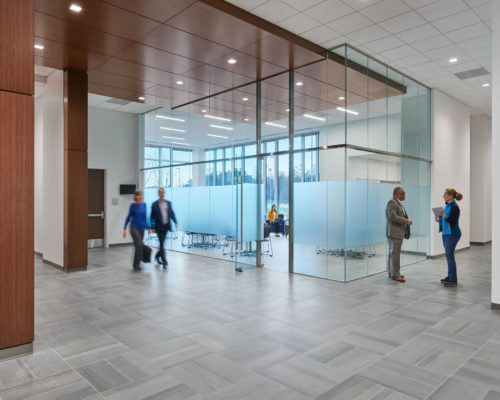 DOJ Confidential Records Facility interior lobby