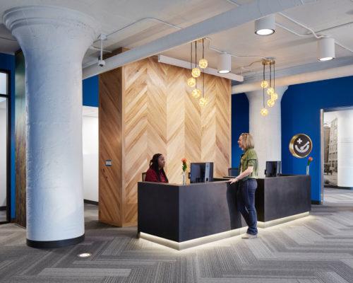 Hennepin Healthcare, North Loop Clinic interior reception